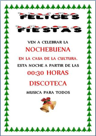 Cartel Nochebuena 2015